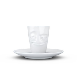 Espresso Mug with handle - impish white