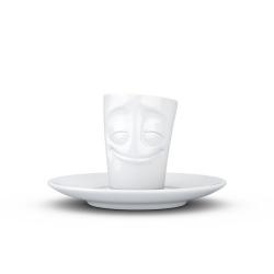 Espresso Mug with handle - cheery white