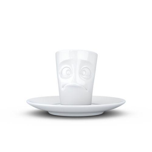 Espresso Mug with handle - baffled white
