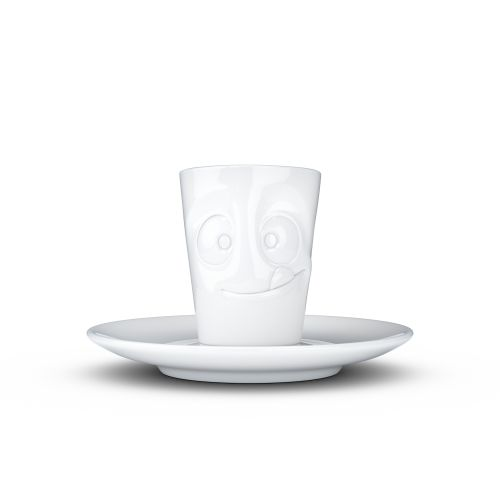 Espresso Mug with handle - tasty white