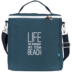 Cool bag Life is better navy 30x19x30cm