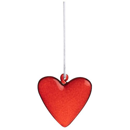 Glass heart hanger Assortment 24pcs (6pcs each design)